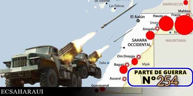 Parte de Guerra Nº 254. Guerra del Sáhara Occidental.