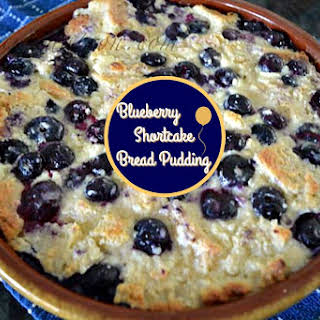 Blueberry Shortcake Bread Pudding.