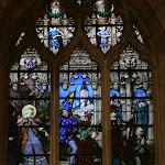 Collégiale Saint-Martin : vitraux du choeur Retour forcé de la la bienheureuse Françoise, Mariage de François de Montmorency et de Diane de France (19e s.)