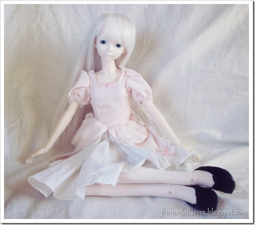 Ball Jointed Doll Posing in New Shoes