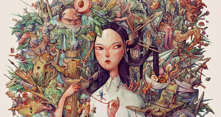 Impresionante pintura de  Marija Tiurina