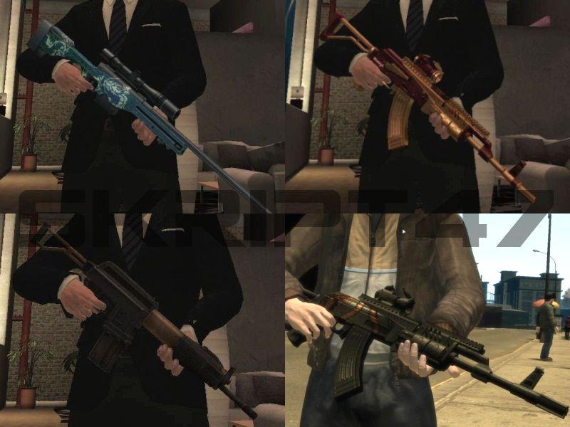 GTA IV AK-Sopmod, Spas-15, L115A1