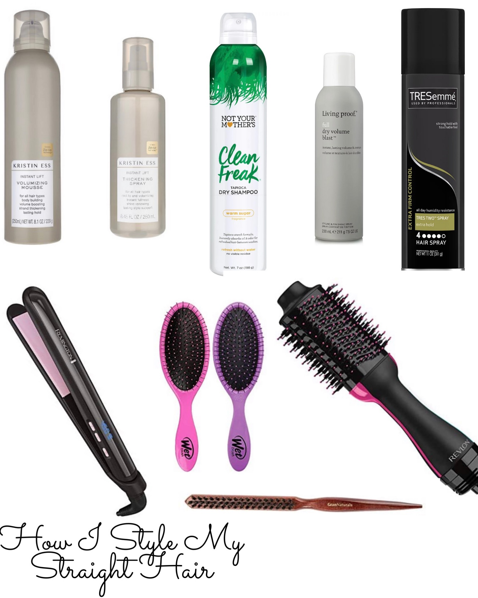 What I Use To Style My Straight Hair (Lob Haircut)  - Something Delightful Blog