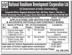 NHDC Advertisement 2017 www.indgovtjobs.in
