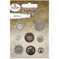 Vintage knapper: Mix Vintage Silver