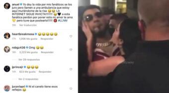 Anuel AA esquiva beso de fan y se burla en sus redes sociales