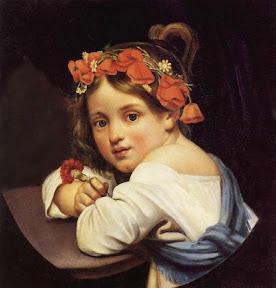 Орест Кипренский Девочка в маковом венке с гвоздикой в руке (Мариучча). 1819 г.jpg
