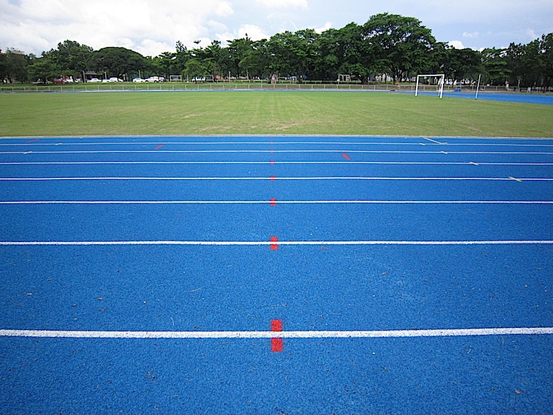 blue track oval