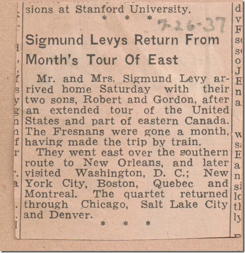 Return from Tour 7_26_1937