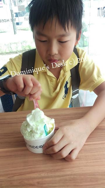 Monkey boy with his ice-cream