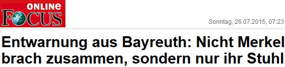 Nicht Merkel brach zusammen, sondern nur ihr Stuhl