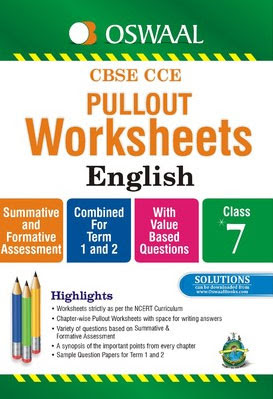 Book) Oswaal CBSE CCE Pullout Worksheets English For Class 7
