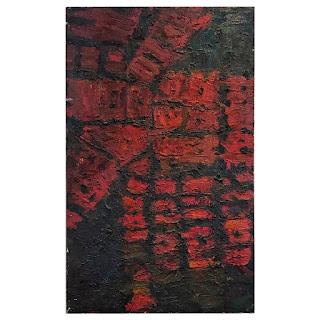 Butchko Signed Brutalist Oil Painting