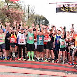 OIC - ENTSIMAGES.COM - Start of the Celebrity Race at the  Virgin Money London Marathon on Blackheath in London, England. 24th April 2016 Photo Mobis Photos/OIC 0203 174 1069