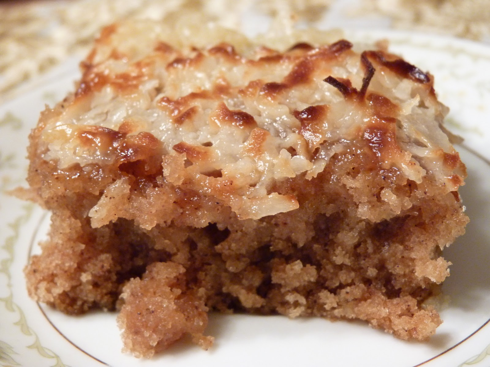Oatmeal Cake With Broiled Coconut Frosting Joann Reed 1 ½ Cups Boiling Water Cup Rolled Oats Er 2 Eggs Brown Sugar White