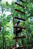 Hunter making the climb...