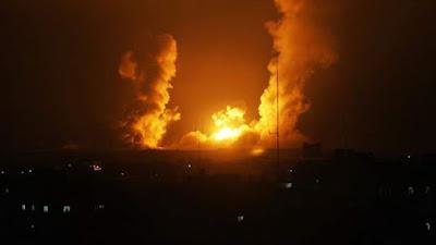Sudah 50 Roket Israel Menggempur Wilayah Gaza Utara