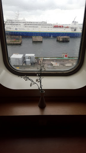 View from Accessible cabin window, Marine Atlantic Ferry to Newfoundland. Every Journey Matters: Marine Atlantic Ferries to Newfoundland