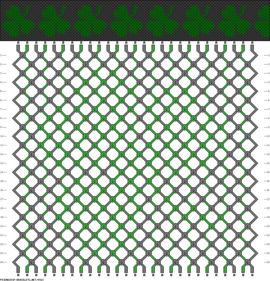 Фенечки схемы зеленые
