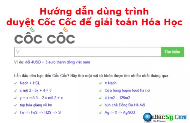 Hướng dẫn dùng trình duyệt Cốc Cốc để giải toán Hóa Học + Hình 1