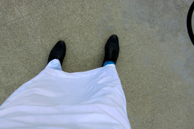 Rockin' socks under the dishdasha