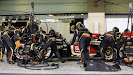 Romain Grosjean, Lotus E21 Renault, makes a pit stop