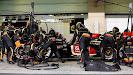 Romain Grosjean, Lotus E21 Renault, makes a pit stop