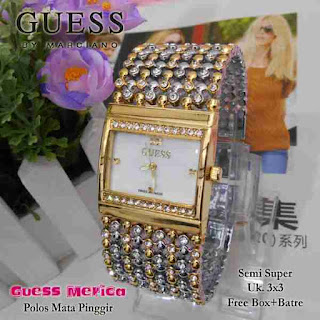 jam tangan Guess merica silver kombi gold