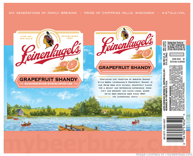 Leinenkugel's Grapefruit Shandy 24oz cans