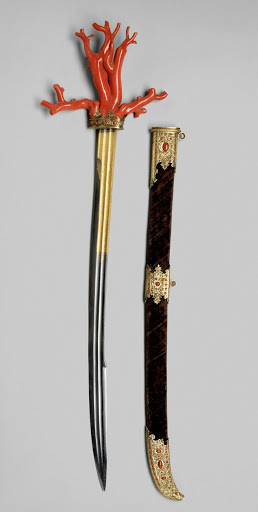 Coral Saber Scabbard of of Archduke Ferdinand II of Tyrol. From The Museum of Fine Arts Houston Cloaked in Magnificent Opulence