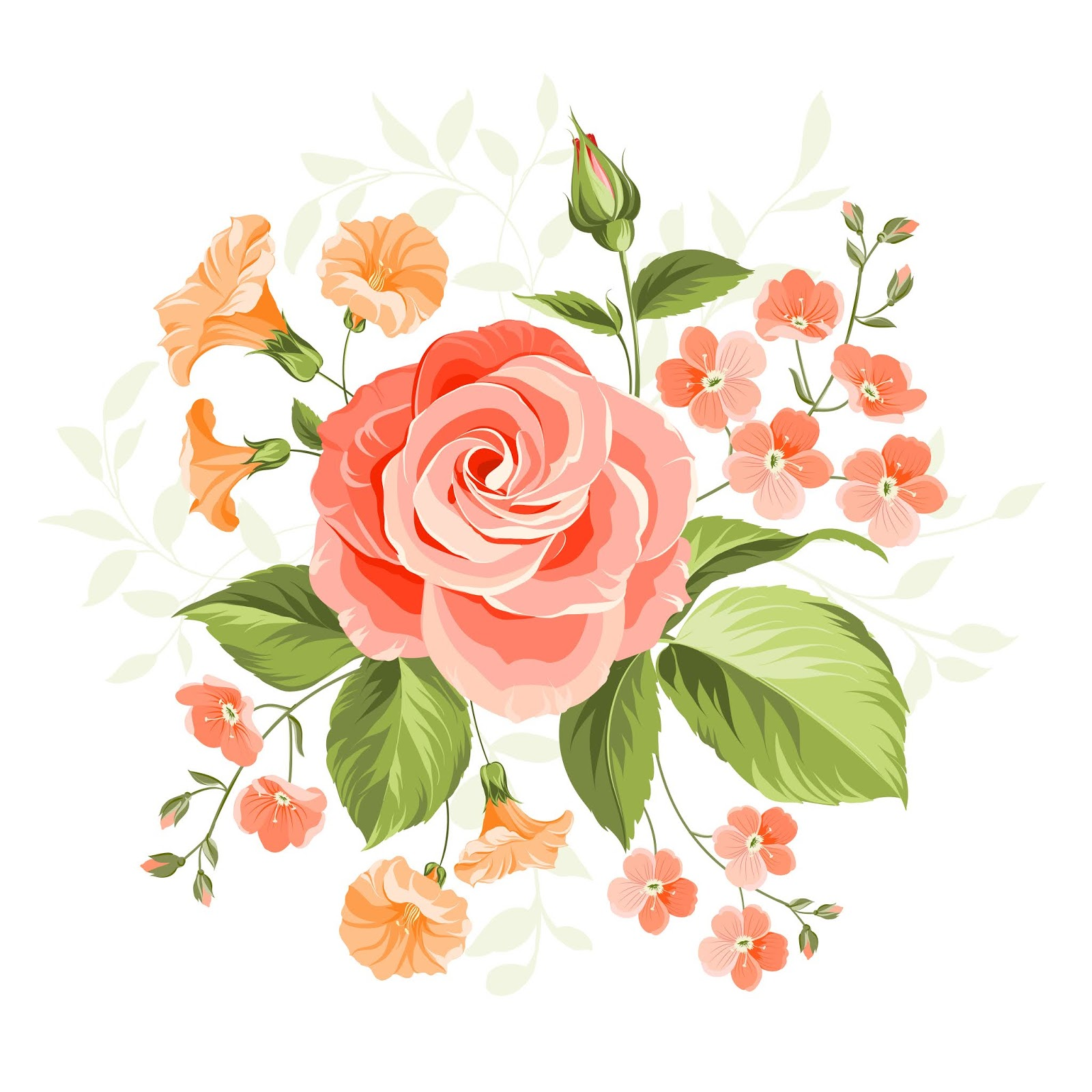 Pink Beautiful Rose Illustration Free Download Vector CDR, AI, EPS and PNG Formats
