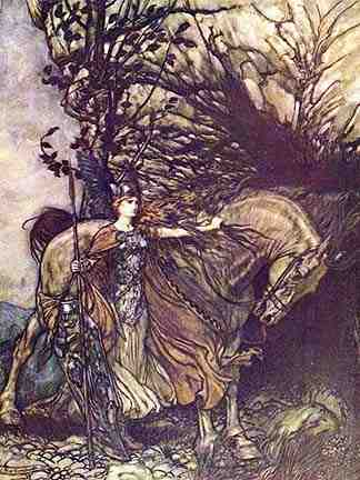 Brunhilde Appears To Siegmund, Asatru Gods And Heroes