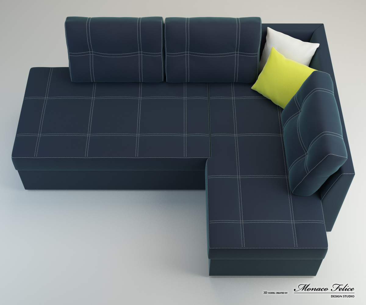 Product Visualization. 3D modeling of furniture.