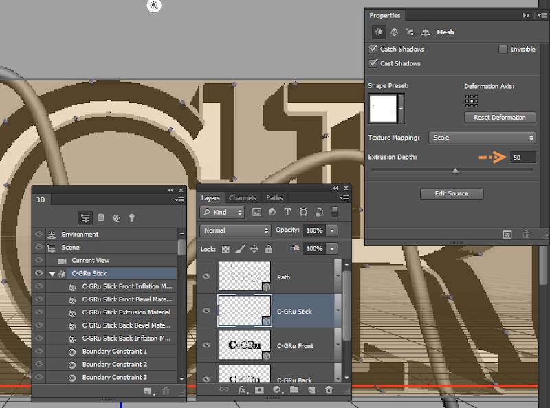 Photoshop - เทคนิคการสร้างตัวอักษร 3D Glowing แบบเนียนๆ ด้วย Photoshop 3dglow21