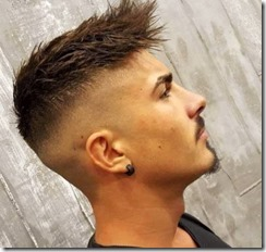 Mens faded haircut sharp edges