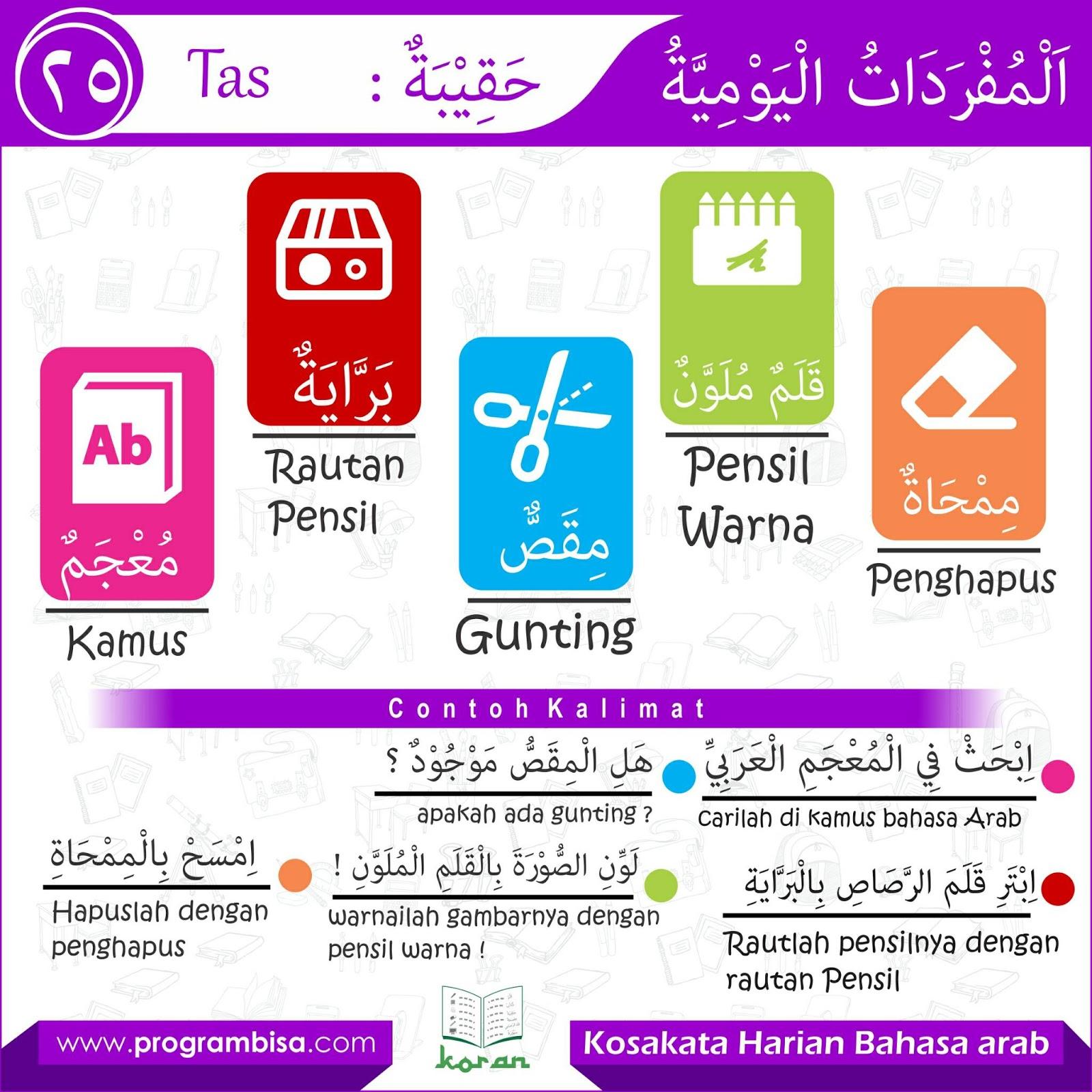 Kosakata Bahasa Arab Seputar Alat Sekolah Download Kajian Islam