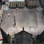 La plaza de Bolivar desde el Corredor