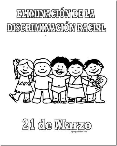 eliminacion discriminacion recial jugarycolorear (3)