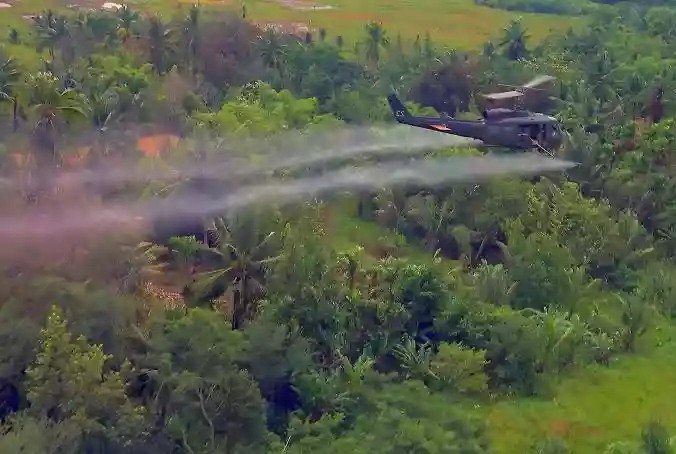 Agent Orange spread over the Vietnam jungle