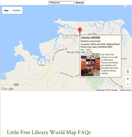 Little Free Library World Map.Little Free Library Launched In Capiz