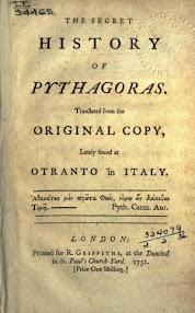 Cover of Samuel Croxall's Book The Secret History Of Pythagoras