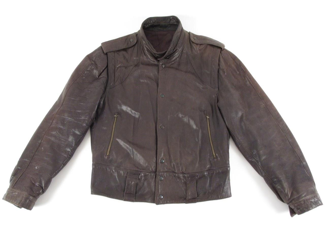 Vintage Girgio Armani 80's  Style Leather Jacket