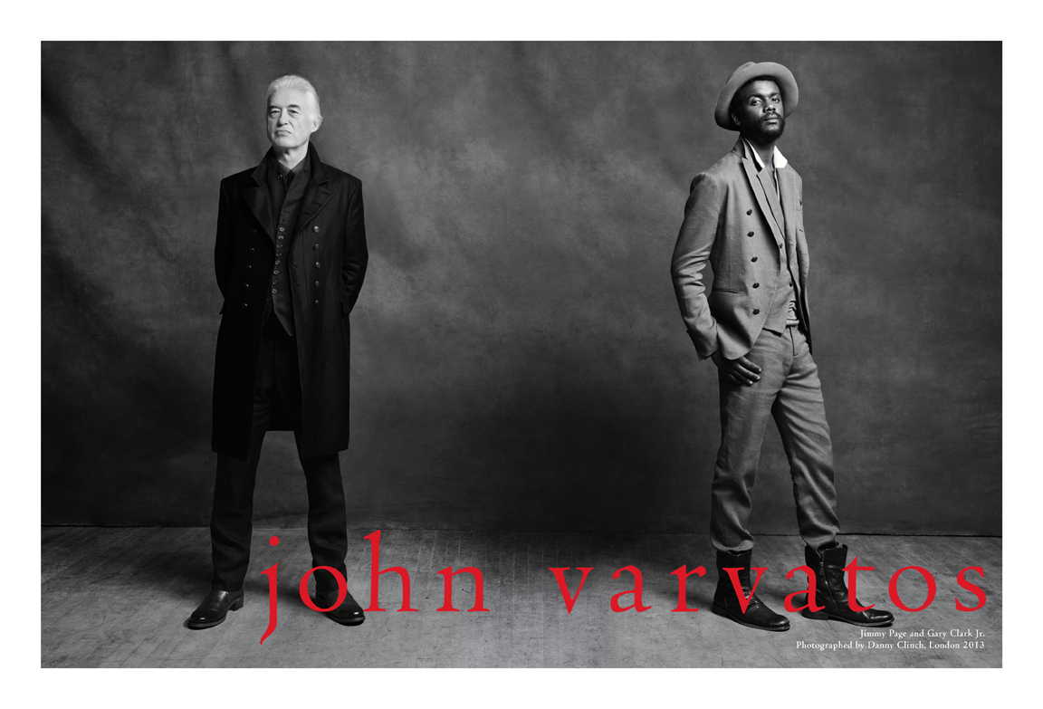 John Varvatos Spring/Summer 2016 Campaign with Jimmy Page [men's fashion]