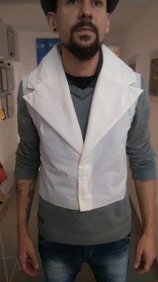 Toile col tailleur d'une veste queue de pie