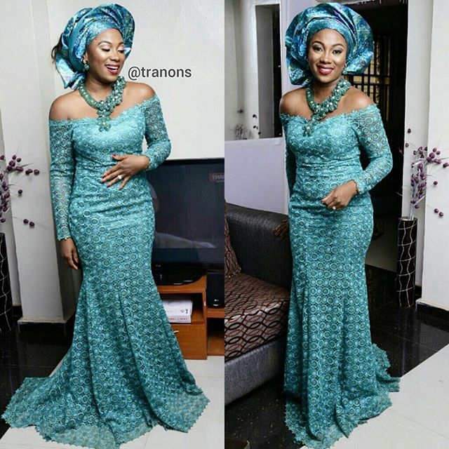 Lace Aso Ebi Styles 2016 For Beautiful Ladies Fashion Qe