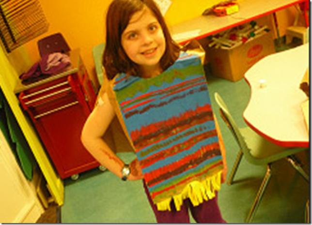 manualidades hacer poncho mexicano