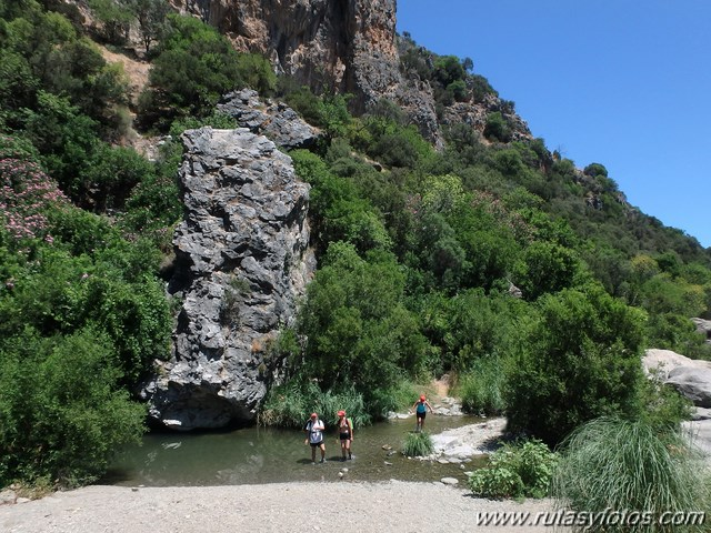 Los Baños Romano La Hedionda:dejamos la acequia y descendemos hacia el río a pocos metros de la