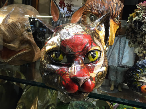 Venice-cat-mask.jpg - A cat mask in a shop window along the Procuratie Vecchie on Piazza San Marco, Venice.
