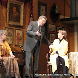 Joanne Westervelt, Richard Harte and Benita Zahn in THE ROYAL FAMILY (R) - December 2011.  Property of The Schenectady Civic Players Theater Archive.