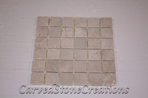 2x2, Flooring, Flooring & Mosaics, Interior, Light Oriental, Mosaic, Natural, Stone, Tile, Travertine, Tumbled